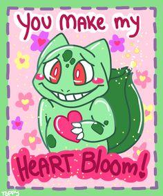Bulbasaur Valentines Card--YES!!