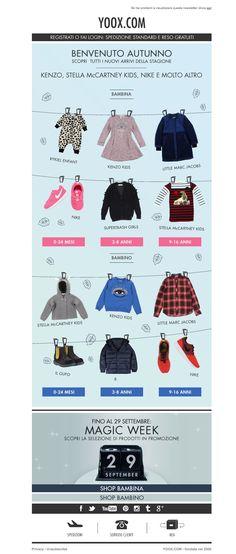 #newsletter Yoox Kids 10.2014 Nuovi arrivi 0-16 anni: Kenzo, Stella McCartney Kids, Nike...