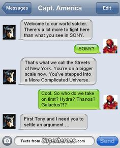 Haha get it? Sony and More Complicated Universe (MCU/Marvel Cinematic Universe)