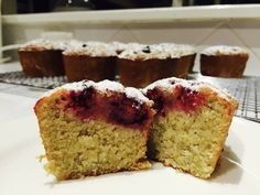I just love the delicacy of Friands … small and petite but totally delicious with a gorgeous cup of coffee! I can even do this for brekkie, which is something I probably shouldn't admi… Friands Recipe, Lemon Coconut, Almond Recipes, Nut Free, Raspberry, Sweet Tooth, Sweets, Baking, Pantry