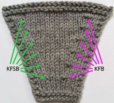 Do this instead of KFB - results in a no bump. Slip instead of knit the second stitch