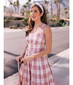 Gal Meets Glam Collection Petite Size Polly Gingham Square Neck Pleated A-Line Dress Fall Formal Dresses, Glam Dresses, Cute Dresses, Casual Dresses, Fashion Dresses, Summer Dresses, Elegant Dresses, Sexy Dresses, Wedding Dresses