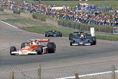 Gilles Villeneuve, Jody Scheckter, Mario Andretti e Nilsson - GP Silverstone 1977