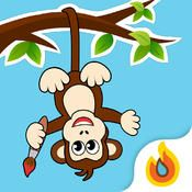 Doodle Monkey - Free Draw & Sketch by Hayloft LLC ** Expand the canvas for young artists!  Draw on a blank board, or add a special touch to existing photos.