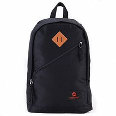 Uoobag School Backpack for Boys Teens Bookbag Casual Travel Outdoor Bag Black * More info could be found at the image url.