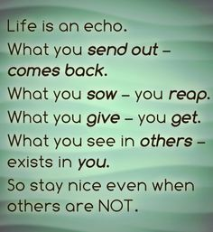Treat others how you want to be treated. #GoodMorning