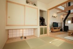 Japanese Home Design, Modern Japanese Architecture, Traditional Japanese House, Japanese Interior, Interior Architecture, Interior And Exterior, Tatami Room, Japanese Bedroom, Natural Interior