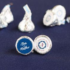 Personalized Wedding Hershey's Kisses Hershey Candy Bars, Hershey Miniatures, Hershey's Kisses, Hershey Chocolate, Personalized Wedding, Wedding Ideas, Winter, Winter Time, Wedding Ceremony Ideas