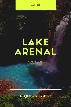 Lake Arenal is a lake which is situated in the northern highlands of Costa Rica.