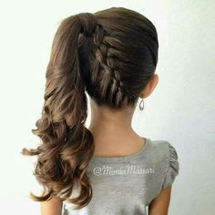 Beckoning hairstyle! I am going to ask my wife to try this hairstyle on our daughter,today.