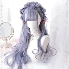 Japanese Fashion Harajuku Kawaii Long Curly Wigs Daily Wigs · lolita store · Online Store Powered by Storenvy Curly Hair With Bangs, Short Curly Hair, Hairstyles With Bangs, Wavy Hair, Pretty Hairstyles, Curly Hair Styles, Easy Hairstyles, Medium Hairstyles, Evening Hairstyles
