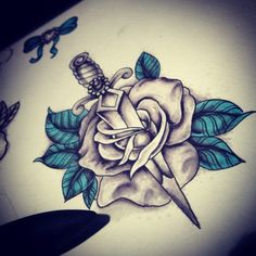 Rose dagger from today, going to keep the touch of colour theme to this page.