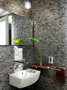 Gạch men ốp tường caro trang trí phòng tắm và phòng bếp