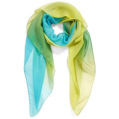 Women's Nordstrom Ombre Scarf ($38) ❤ liked on Polyvore featuring scarves and lime pool