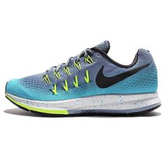 new styles 36dc4 f8266 Nike Womens Wmns Air Zoom Pegasus 33 Shield, OCEAN FOG BLACK-GAMMA BLUE
