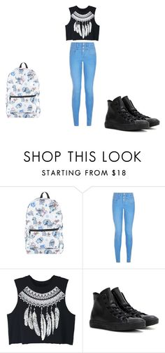 """""""de school"""" by sisiassia on Polyvore featuring mode, Disney, WithChic et Converse"""