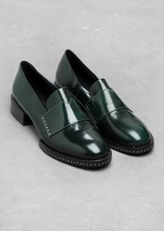 & Other Stories Stud Leather Loafers