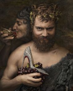 Christian Louboutin presented his latest Fall/Winter collection in a series of Renaissance paintings featuring typical subjects like Goliath, a Satyre, Anchelous...