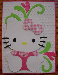 Cricut hello kitty Card