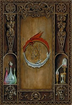 B.A.Vierling Painting: Exhbition of Alchemical Illustrations