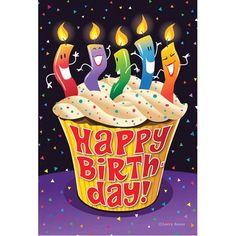 Happy Birthday Cupcake Garden Flag