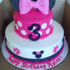 Minnie Mouse birthday cake @LaurenElizabeth I like the top with the number