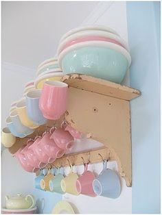 Pretty pastel dishes