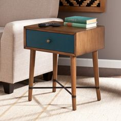 For a fresh take on midcentury modern, add the Aiden Lane Galena Accent Table. X-frame base and single drawer storage combine fashion and function. Accent your décor with this playful, multifunctional side table anywhere in your home! Vintage Furniture, Furniture Decor, Modern Furniture, Furniture Design, Moving Furniture, Western Furniture, Minimalist Furniture, Furniture Legs, Lounge Furniture
