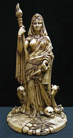 How appropriate to find & repin this lovely statue of Hekate, for tomorrow night is Hekate's Night & the perfect time to honor Her with leaving an offering at a crossroads...