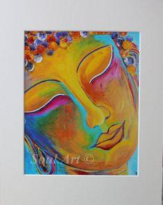 """Buddha print, Buddha art, Buddha handmade, Buddha wall art, Buddhism, Spiritual art, Zen """"Young Buddha"""" 10x8 Photo Print (unmatted/unframed)"""