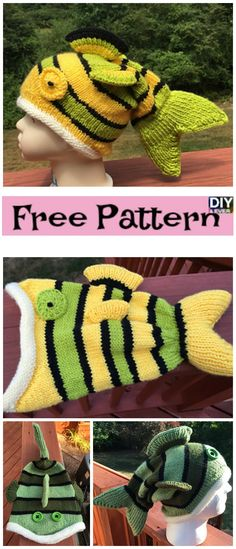 Cute Knitted Fish Hat – Free Pattern#freepattern