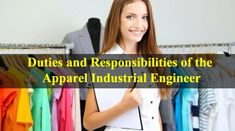 Duties for apparel industrial engineer Industrial Engineering, International Companies, New Employee, Associate Professor, Daily Activities, Working Area, How To Be Outgoing, Workplace, No Response