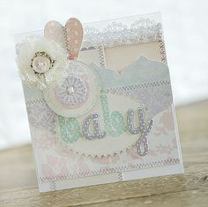 handmade welcome baby card #baby_shower