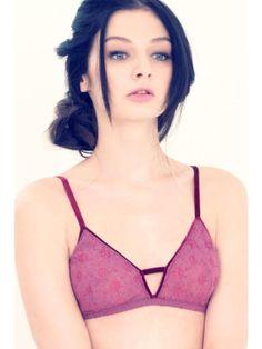 Uye Surana Negative Triangle Lace Lingerie Set - Rose   BLUEFLY up to 70% off designer brands