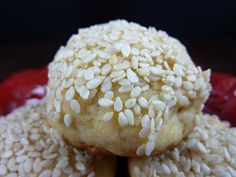Ancient Roman Honey Cookies with Sesame Seeds  All purpose gluten free baking flour and theses should work just fine.