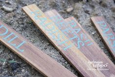 paint stir stick garden markers