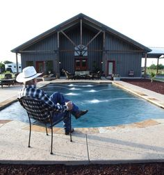 full metal home with epic pool & stable | cassitas | pinterest