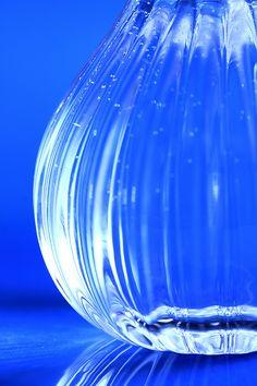 Glass vase Blue