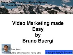 video-marketing-made-easy SlideShare by Bruno Bürgi via Slideshare Building A Business, Make It Simple, Articles, Marketing, Writing, Easy, Life, Being A Writer
