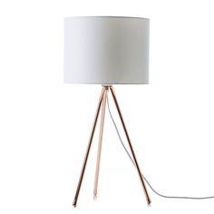 Copper And White Lilla Table Lamp