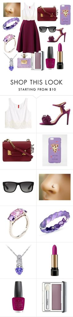 """""""Violet riot"""" by ihascupquake270 ❤ liked on Polyvore featuring H&M, Qupid, Sophie Hulme, ASOS, Ray-Ban, Paolo Costagli, Simone I. Smith, Lancôme, OPI and Clinique"""