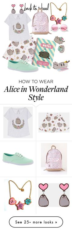 """""""#PVxPusheen I'ma cat I'ma kitteh cat and I meow, meow, meow; and I dance, dance, dance."""" by kathrynrose42 on Polyvore featuring Pusheen, Keds, ZeroUV, contestentry and PVxPusheen"""