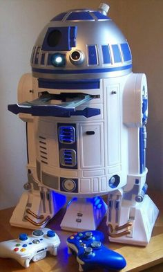 Custom designed R2-D2 X-Box 360.