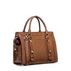 MICHAEL MICHAEL KORS Collins Stud Medium Leather Satchel + Fulton Large Leather Crossbody + Fulton Leather Carryall Wallet