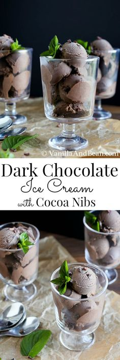 You won't believe how rich, creamy and oh so chocolatey this ice cream is | Dairy-Free, Egg Free, Vegan | Vanilla And Bean