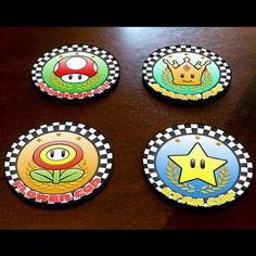 Mario Kart CoastersKart Racing fans unite! Use this set of coasters to impress your friends as well as protect your surfaces! No cup rings will ruin your...