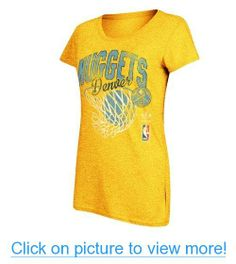 Denver Nuggets Women's Adidas Nice Shot Too NBA Short Sleeve Crew T-Shirt (Gold)