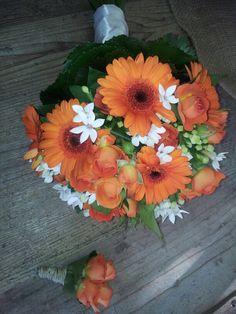 Bouquet bianco ed arancio