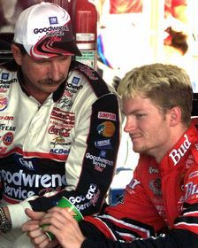 My boys! Dale Sr and Dale Jr.  NASCAR is forever changed because of the Earnhardt family.