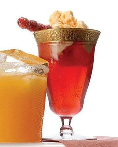 Cranberry and Orange-Sherbet Punch Recipe